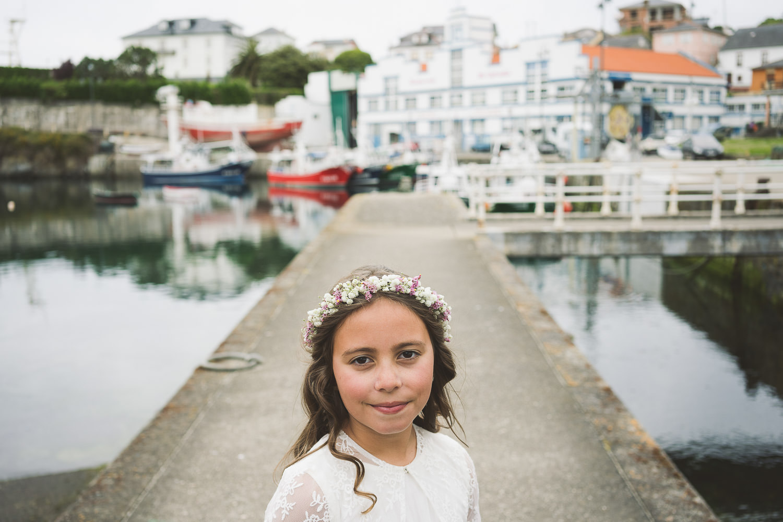 fotos para niñas de comunión en Puerto de Vega, Asturias