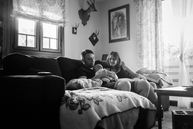 fotos de recién nacido en casa