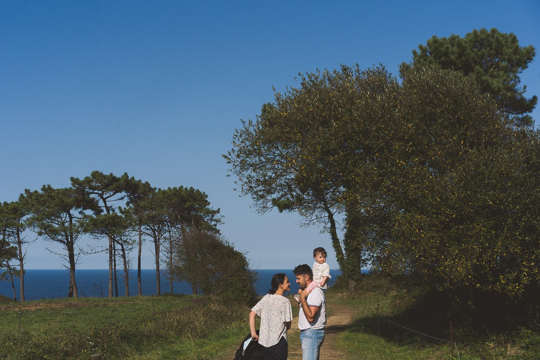 foto de familia en la costa de Asturias